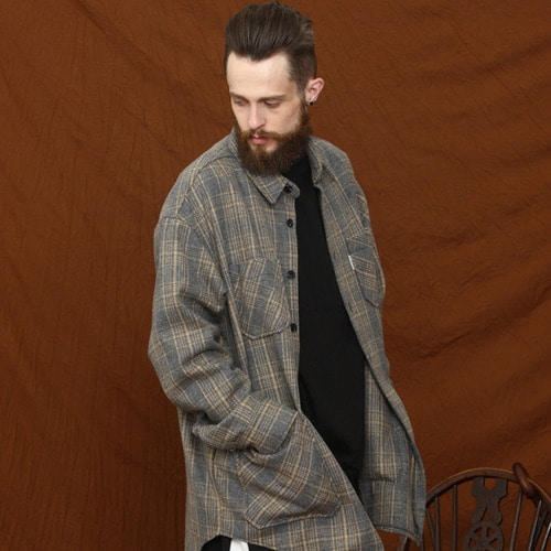[MELROY] Blanc Check Jacket - Grey
