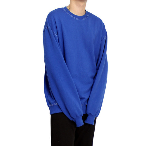 [클라코] STITCH SWEAT SHIRTS - BLUE
