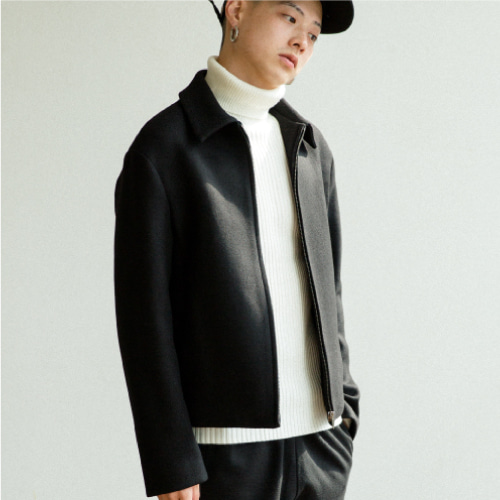 [35%SALE][NOT N NOT]Heavy wool crop jacket - Black