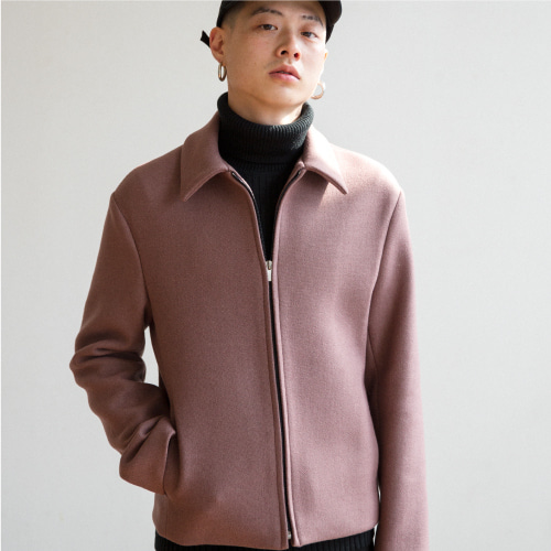 [35%SALE][NOT N NOT]Heavy wool crop jacket - Dark pink