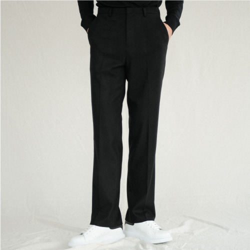 [NOT N NOT]Heavy semi wide pants - Black