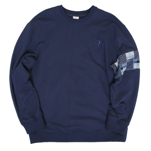 [MARSRAIGHT]PATCH CREWNECK-NAVY