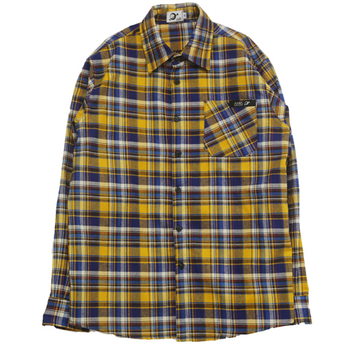 [MARSRAIGHT]MADRAS CHECK SHIRT-YELLOW