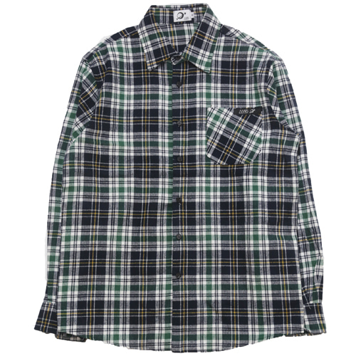 [MARSRAIGHT]MADRAS CHECK SHIRT-GREEN
