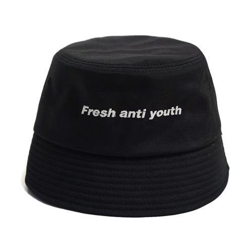 [Fresh anti youth] Logo Bucket Hat  - Black