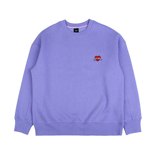 [EINEN]Small Heart Crown Napping Sweatshirts Purple