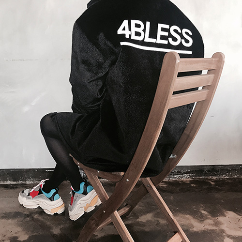 [4BLESS] Faux Calf Fur Jacket Black