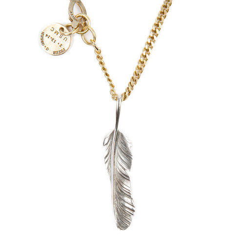 [AGINGCCC]254# SOLIDBRASS FEATHER NECKLACE-NO.1
