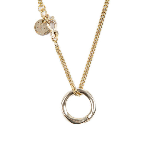 [AGINGCCC]256# SOLIDBRASS RING NECKLACE