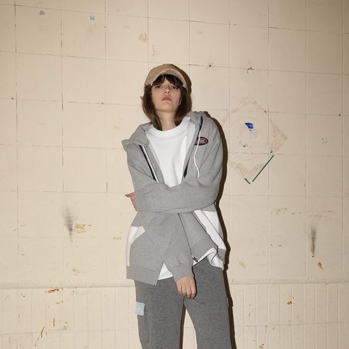 [PLASMA SPHERE] 17FW Press Jumper - Grey, Black