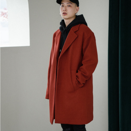 [40%SALE][NOT N NOT]Minimal Daily coat - Brick
