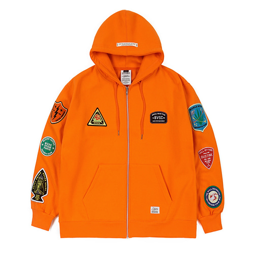[STIGMA]FAITH OVERSIZED HEAVY SWEAT ZIPUP HOODIE - ORANGE