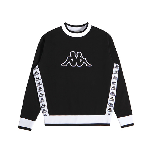 [CHARMS X KAPPA] 222BANDA  SIDE SWEATSHIRT - BK
