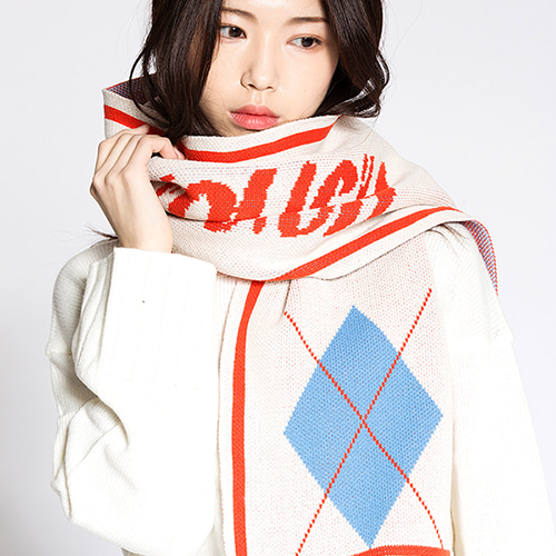 [MOTIVESTREET]COLOR MUFFLER-IVORY