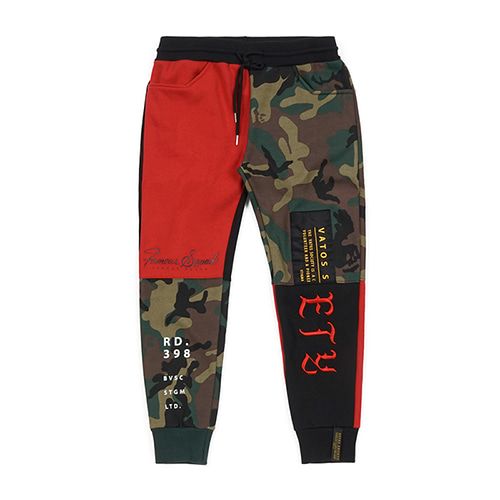 [STIGMA]COMBINE HEAVY SWEAT JOGGER PANTS - RED