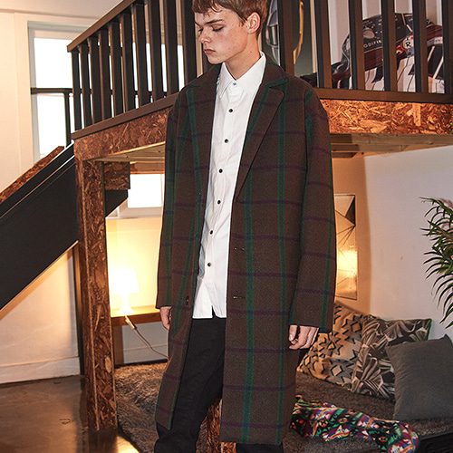 [CRUMP] Crump over-fit classic check coat (CO0010-2)