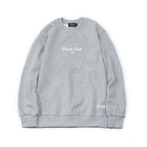 [Lebenea]DEAR SEA 1965 RAISING SWEATSHIRT - GRAY