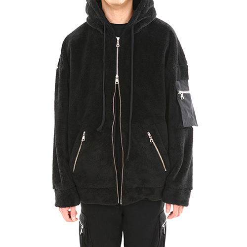 [12.12일 출고예정][LANG VERSIO] Pocket Hood Zip-up [보아털]