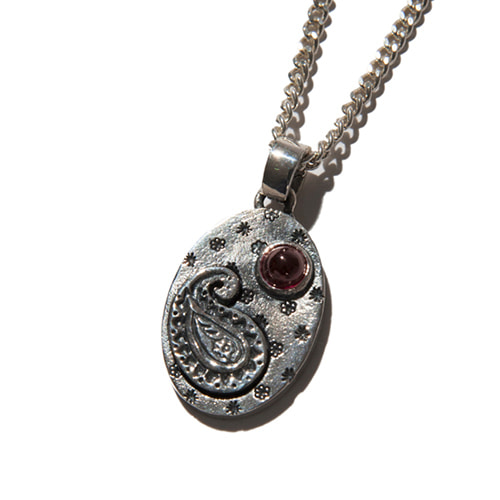 [KRUCHI] Paisley version - 2 necklace (silver,red)