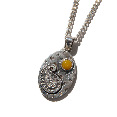 [KRUCHI] Paisley version - 2 necklace (silver,yellow)