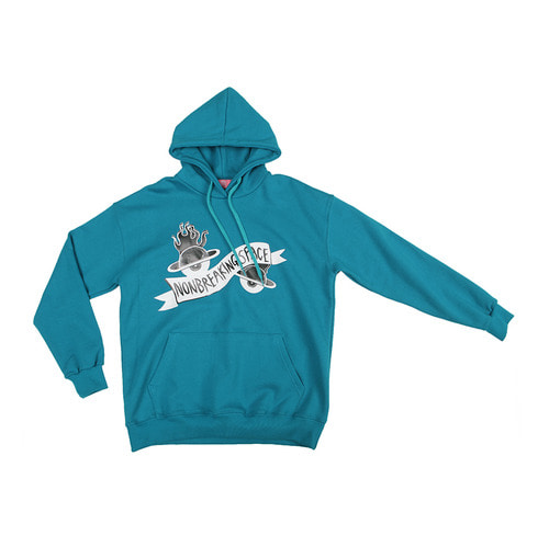 [NBSP] Eyeball planet warm hoodie / Teal