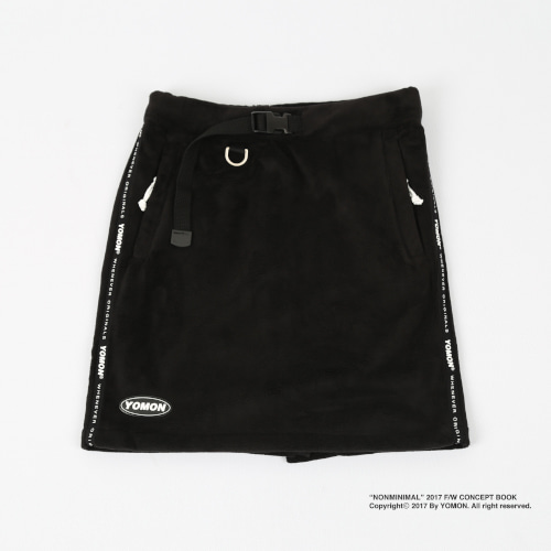 [YOMON] Fleece Skirts Black