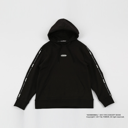 [YOMON] Tape Hood Black
