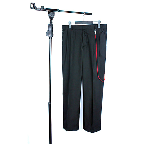 [RADIOS] String Chain Wide Slacks Track.3 - Black