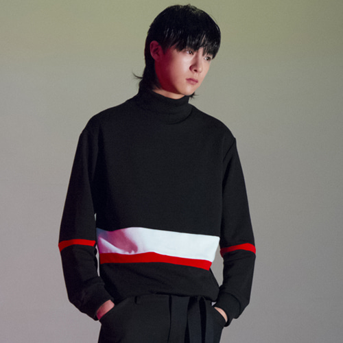 [THE GREATEST] GT17 WINTER 01 Coloration Turtleneck BK
