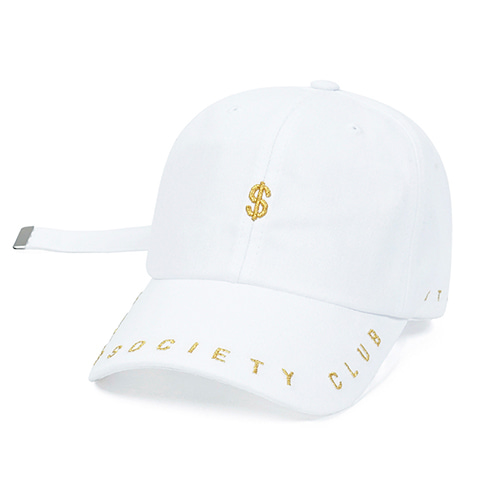 [STIGMA]DOLLAR BASEBALL CAP - WHITE