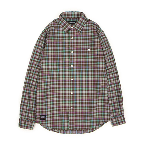[30%할인][[Abnormalthing] - Woolen Check Shirt (Green)