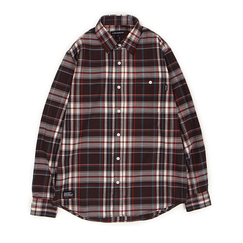 [30%할인][[Abnormalthing] - Woolen Check Shirt (Red)