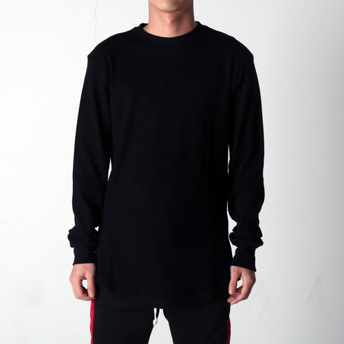 [EPTM] SIDE ZIP THERMAL LONG TEE (BLACK)