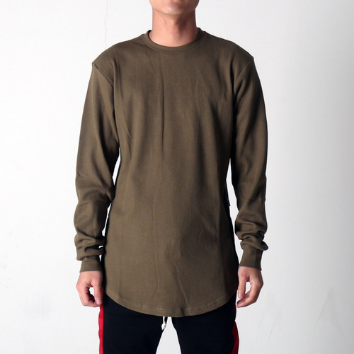 [EPTM] SIDE ZIP THERMAL LONG TEE (OLIVE)