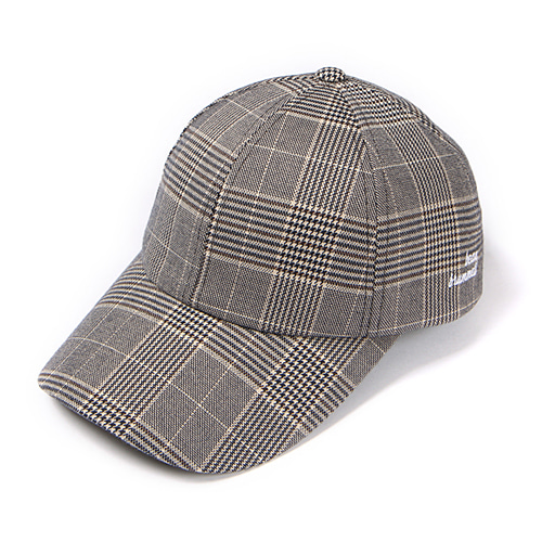 [Abnormalthing] - Glen Check Ball Cap (Brown)