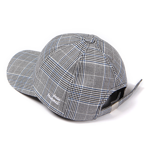 [Abnormalthing] - Glen Check Ball Cap (Gray)