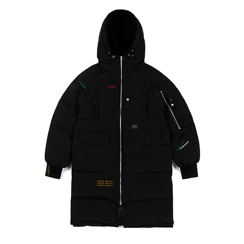[STIGMA]FAMOUS DUCKDOWN LONG PADDING JACKET - BLACK