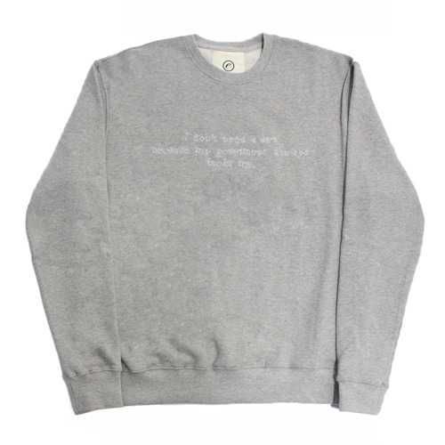 [EASY BUSY] Needlework Sweatshirts - Grey