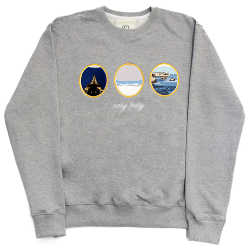 [EASY BUSY] Airplane Sweatshirts - Grey