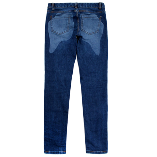 [EASY BUSY] Twerking Washing Selvage Denim Pants - Women