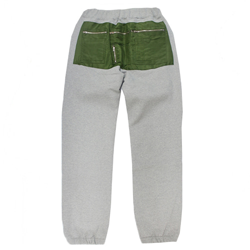 [e by EASY BUSY] MA-1 Pocket Pants - Grey/Khaki