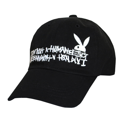 HBXPB Half Rabbit Logo Ball Cap - Black