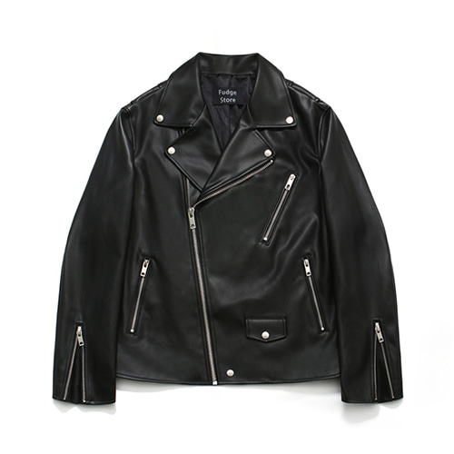 [LAFUDGESTORE][리뉴얼ver.] Buffing Leather Rider Jacket
