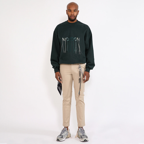 [SAINTSHOW] OVERSIZE MOSOON-EMBROIDERED SWEATSHIRT · GREEN