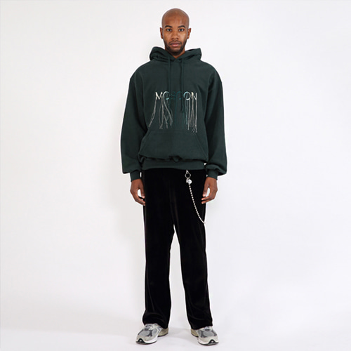 [SAINTSHOW] OVERSIZE MOSOON-EMBROIDERED HOODIE · GREEN