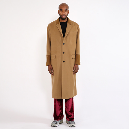 [SAINTSHOW] C-CASHMERE OVERSIZED LONG COAT · CAMEL
