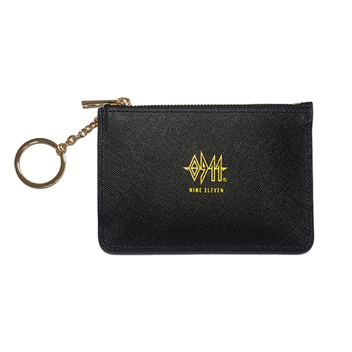 [nine eleven] Leather Card wallet - Black
