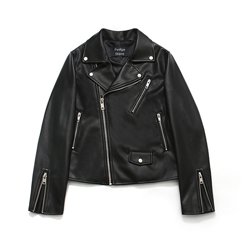 [LAFUDGESTORE][리뉴얼ver.] Buffing Leather Rider Jacket_Woman