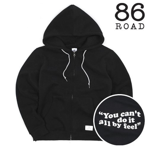 [86로드]2804 Wave logo hood zip-up(Black)
