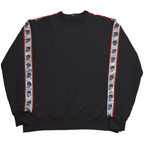 [COKIE] SIDE SWEAT SHIRT - BLACK